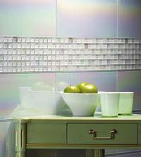 Glass tile from Villi Glas