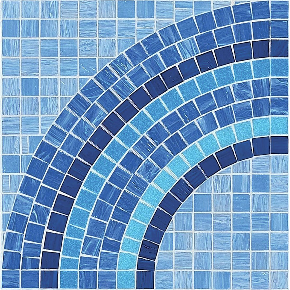 Bisazza Mosaico Artistic Technique 20 - Break Break Blue