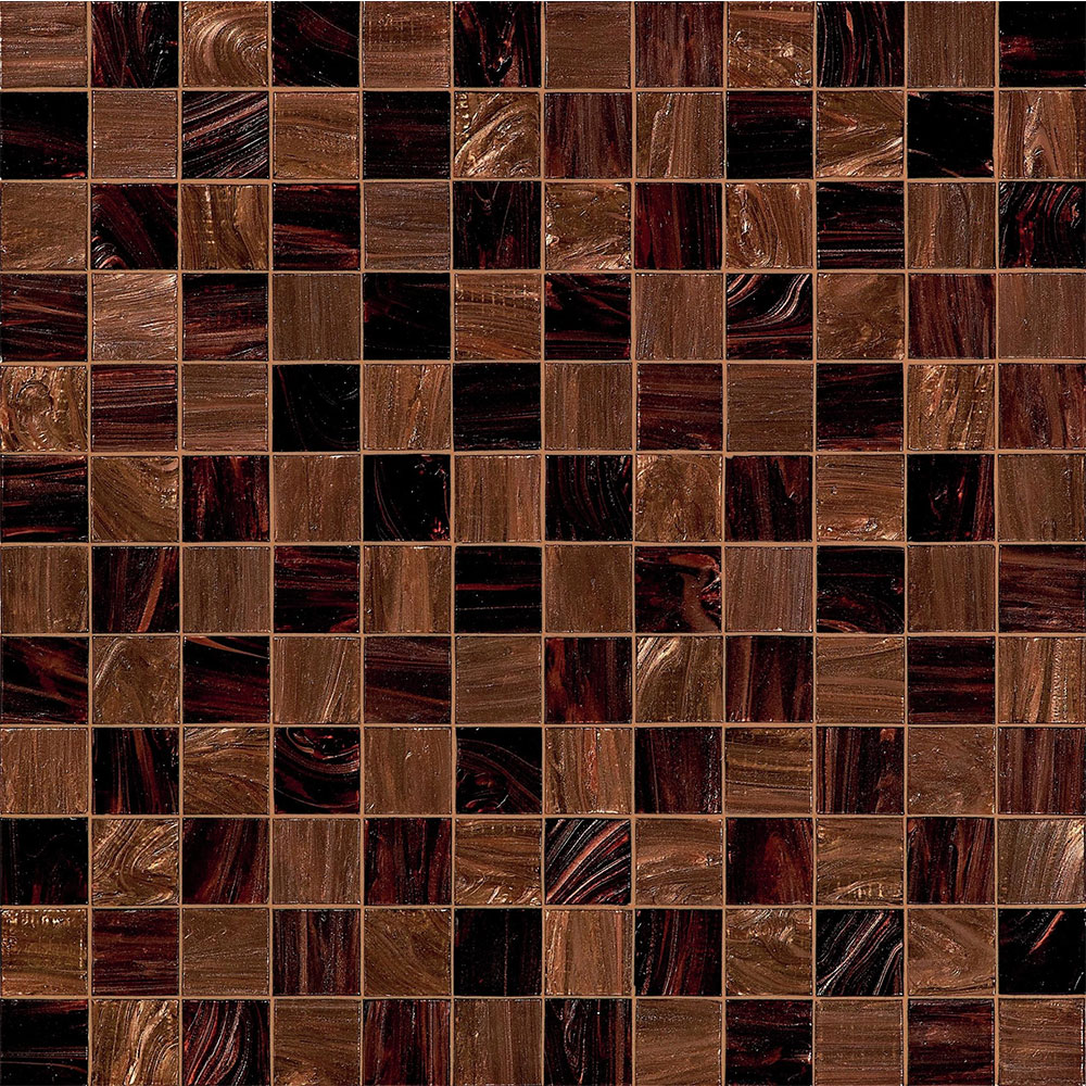 Bisazza Mosaico Decorations 5 x 5 Checkmate Brown
