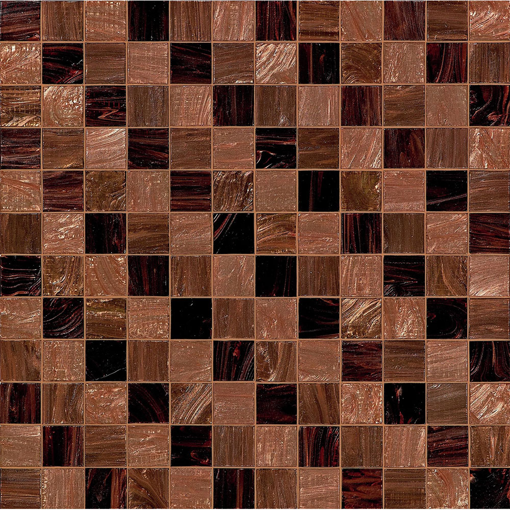 Bisazza Mosaico Decorations 5 x 5 Steps Brown