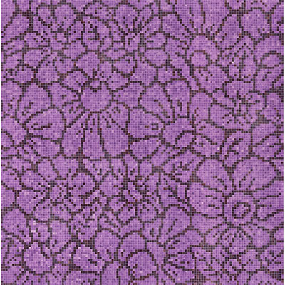 Bisazza Mosaico Decori 10 - Graphic Flowers Graphic Flowers Purple