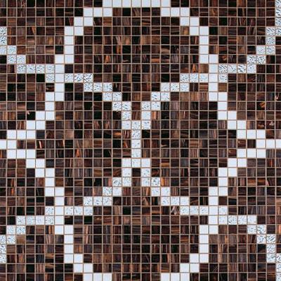Bisazza Mosaico Decori 20 - Liaisons Marron