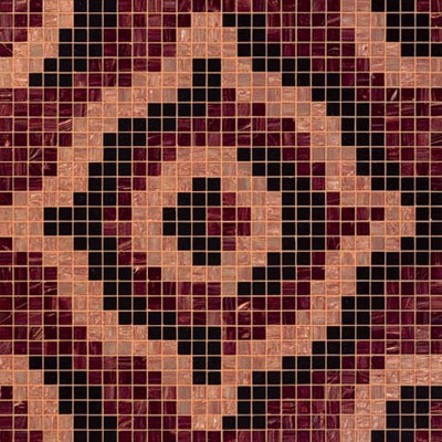 Bisazza Mosaico Decori 20 - Velvet Brown