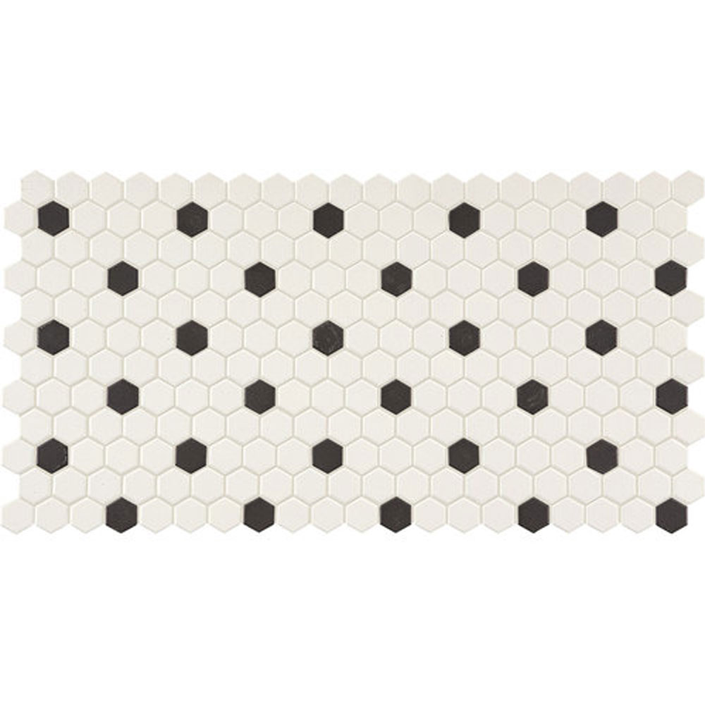 Daltile keystones blends hexagon white with black dots 1 x 1 white daltile keystones blends hexagon white with black dots 1 x 1 white with black dots dailygadgetfo Image collections