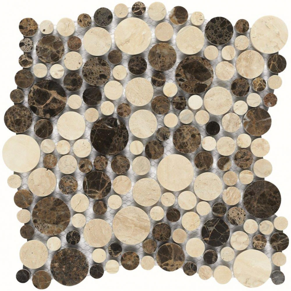 Dune Emphasis Natural Stone Mosaic Interlocking Andromeda