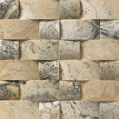 Florida Tile Pietra Art Travertine Domed Mosaic Tile