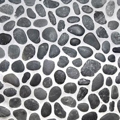 Catalfamo Flooring River Stone I Sumatra Black Pebbles