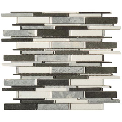 M-Glass Cascade Series Mugworth, Thassos White & Basalt