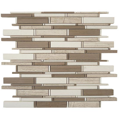 M-Glass Cascade Series Wooden White, Athen Gray & Thassos White