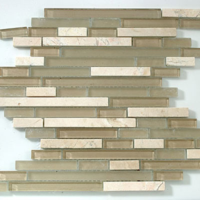 M-Glass Random Brick Series Driftwood
