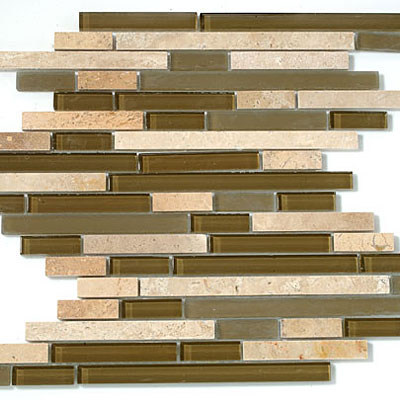 M-Glass Random Brick Series Stone Brown
