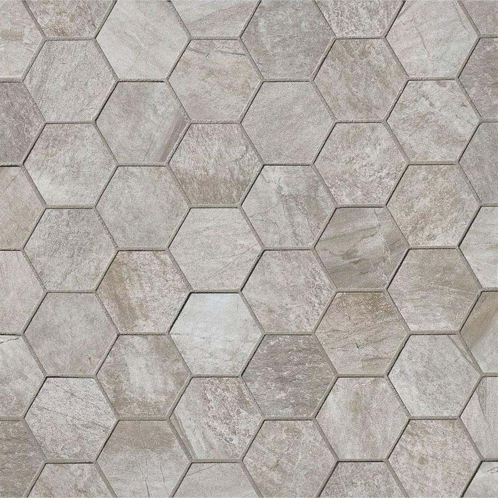 Tilecrest Stone Mountain Hexagon Mosaic