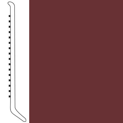 Forbo Wallbase Cove 4-inch Merlot