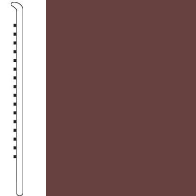 Forbo Wallbase Straight 4-inch Rootbeer